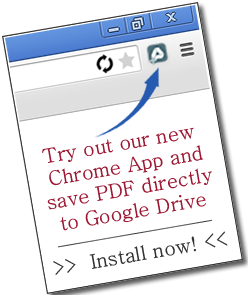 Try out our new Chrome App and open PDF directly in your browser.